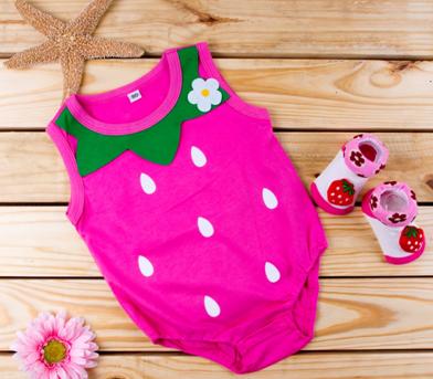 Strawberry Baby Romper