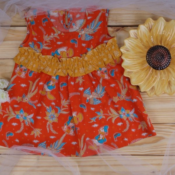 Floral Batik Baby Dress US