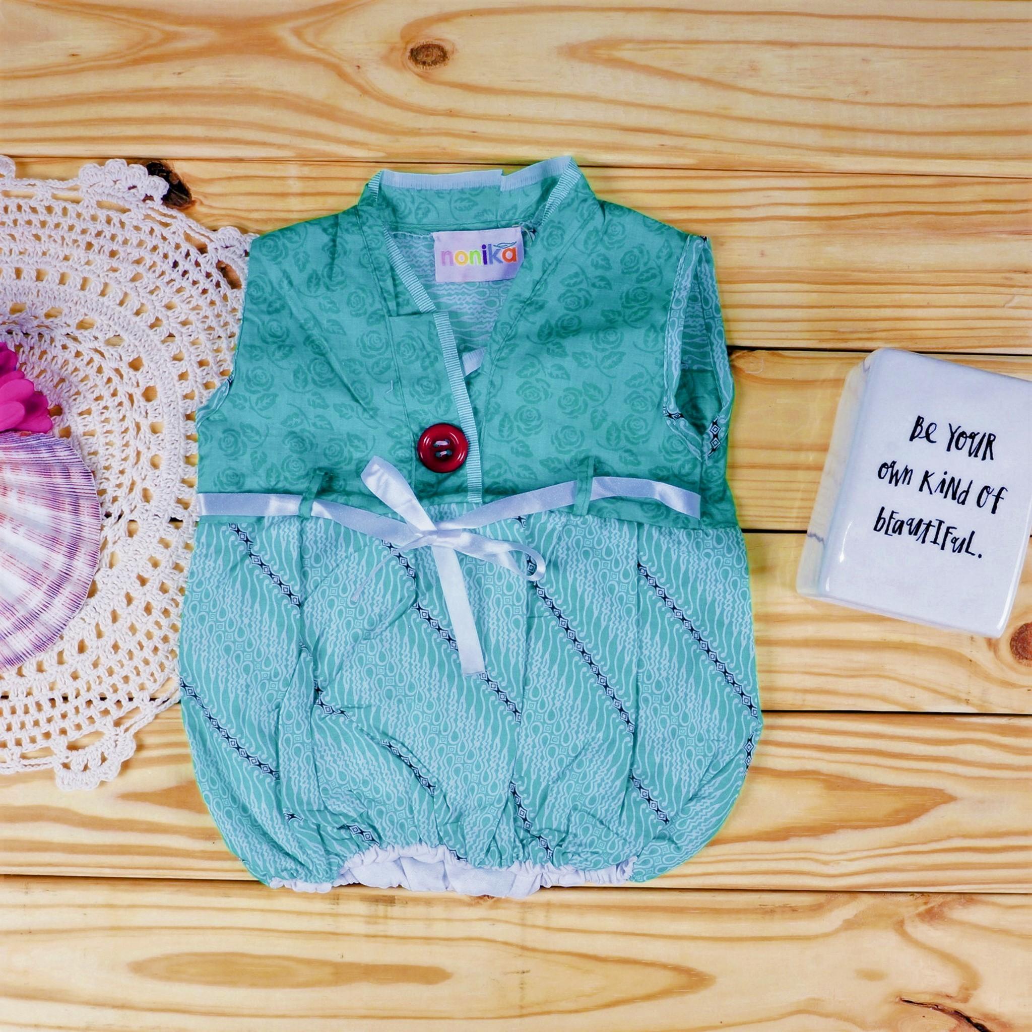 1f2d07690a25 Baby Batik Parang Turquoise Floral Balloon Dress - Size 3-6 Month ...