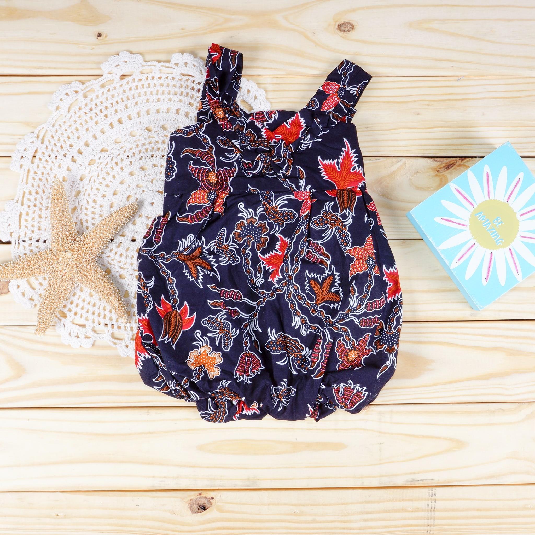 0c3c1ccdd20e Baby Batik Black Floral Dress - Size 6-9 Months - My Nonika