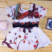 b558d49a704c6 Nonika Baby Toddler Batik Dress in USA Sewu Kuto White 3T