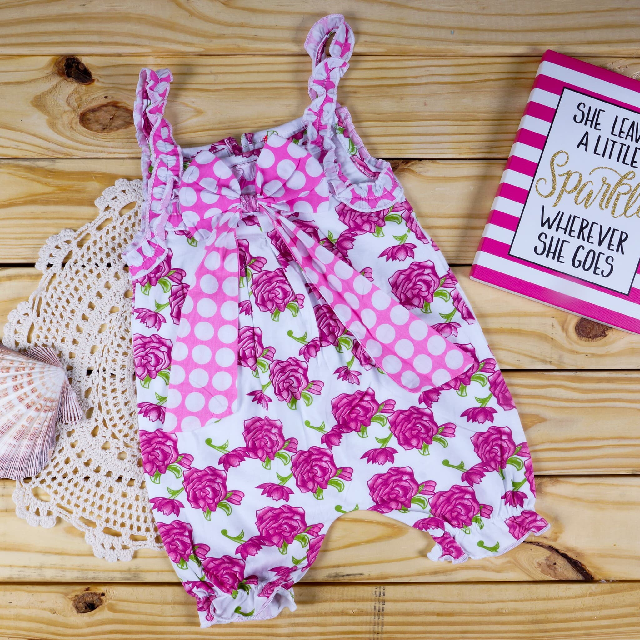 11056345a592 Nonika Baby Toddler Dress in USA Pink Floral Romper 2T ...