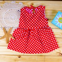 53f447e407c27 Nonika Baby Toddler Dress in USA Red White Polka Dot 3T